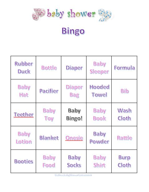 Baby Shower Bingo Free Printable Bingo Cards And Instructions For