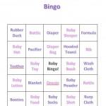 Baby Shower Bingo Girls