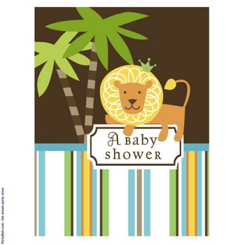 King of the Jungle Baby Shower Invitations