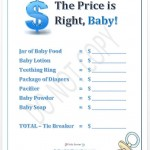 Price is Right Boy Baby Shower Game