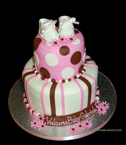 Cake Design Baby Shower Girl : Baby Shower Cake Girl Baby Shower