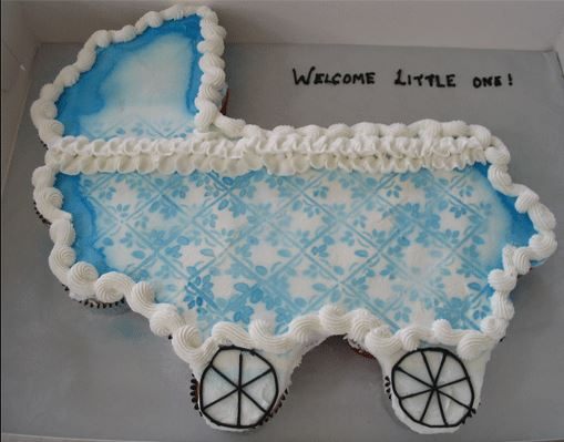 You can do so many different variations with the carriage cupcake.