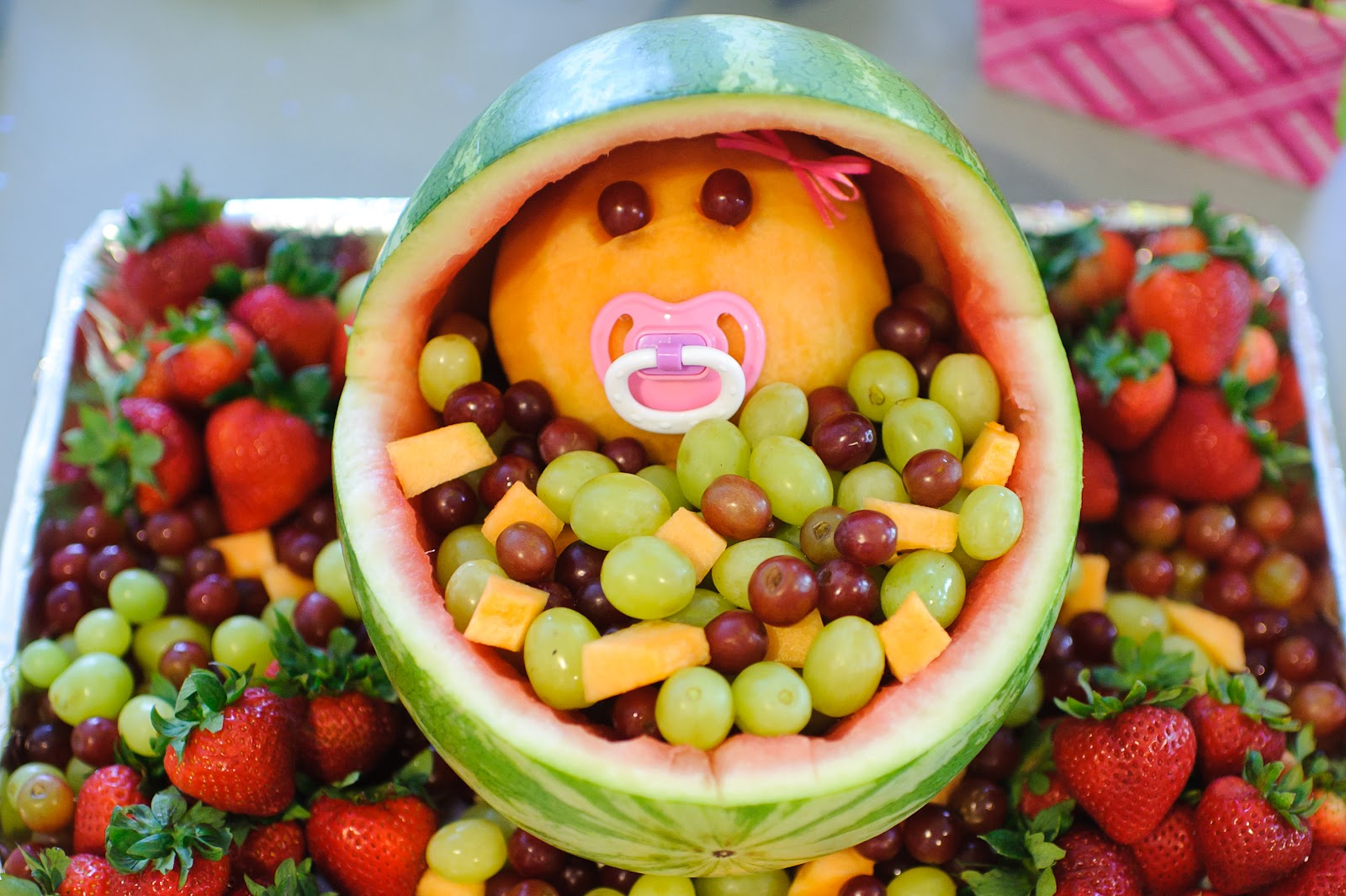 Coed Baby Shower Fruit Bowl